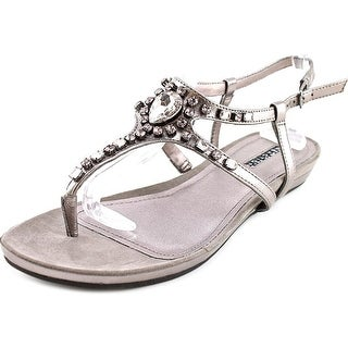 Kenneth Cole Reaction Lost Vegas Women Open Toe Synthetic Silver Thong Sandal