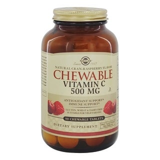 Solgar Vitamin C 500mg Chewable Tablets Cran Raspberry Flavor 90