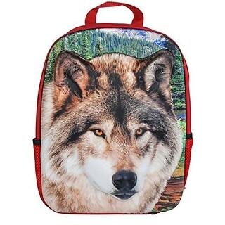 "Rhode Island Novelty 14"" 3D Foam Wolf Backpack Plush"