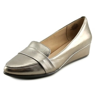 Easy Spirit Adalynn Women W Pointed Toe Leather Silver Flats