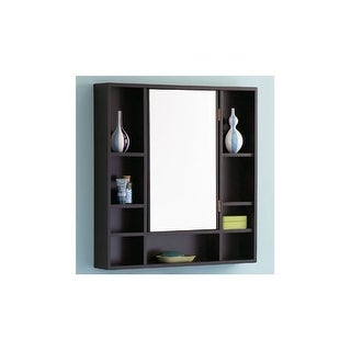 "DecoLav 9700 30"" Solid Wood Medicine Cabinet with Exterior Accessory Shelves"