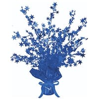 Club Pack of 12 Blue Star Gleam 'N Burst Centerpiece Party Decorations 15""