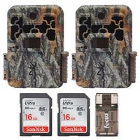 Browning Spec Ops Advantage 20MP Trail Camera (2) with 16GB Card (2) and Reader - Camouflage