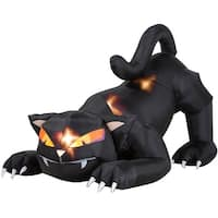 Gemmy 23623 Halloween Airblown Cat, 6', Black