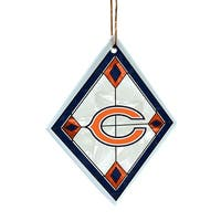 Chicago Bears Stained Art Glass Christmas Ornament
