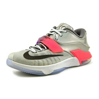 Nike KD VII Men Round Toe Synthetic Silver Basketball Shoe