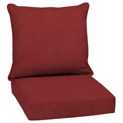 Arden Selections Leala Ruby Red Outdoor Deep Seat Cushion Set - 24 W x 24 D in.