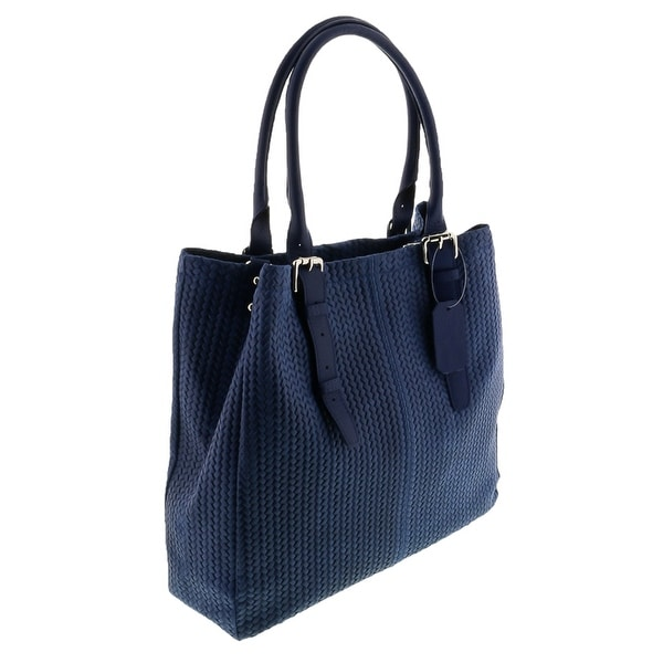 HS Collection HS 2078 RO ASPA Blue Leather Tote/Shopper Bags - 13-14-4.5