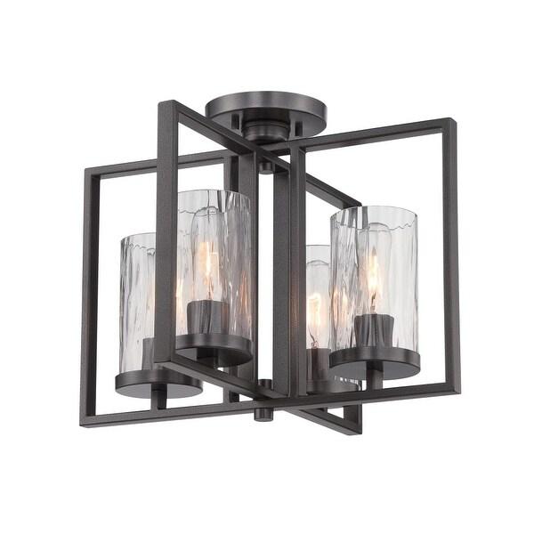 Designers Fountain 86511 Elements 4-Light Semi-Flush Ceiling Fixture - Charcoal