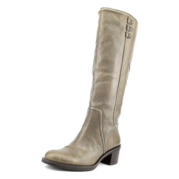 Enzo Angiolini Womens Gregie Leather Almond Toe Knee High Fashion Boots