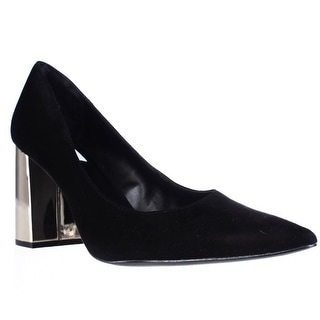 Steve Madden Pointur Block Heel Dress Pumps - Black