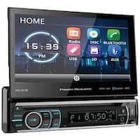 """POWER ACOUSTIK PD-721B 7"""" Incite Single-DIN In-Dash Motorized LCD Touchscreen DVD Receiver with Detachable Face & Bluetooth(R)"""