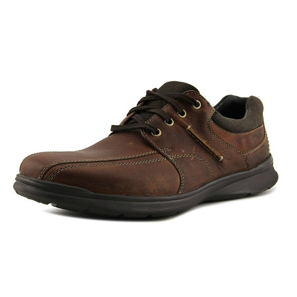 Clarks Cotrell walk Men Round Toe Leather Brown Oxford