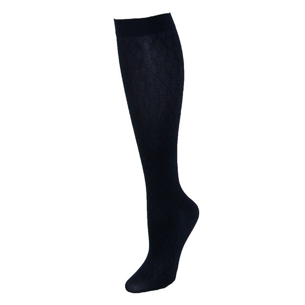 Jefferies Socks Women's Compression Dress Sock with Diamond Pattern