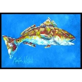 Carolines Treasures MW1098JMAT 24 x 36 in. Fish - Red Fish Seafood Two Indoor Or Outdoor Doormat