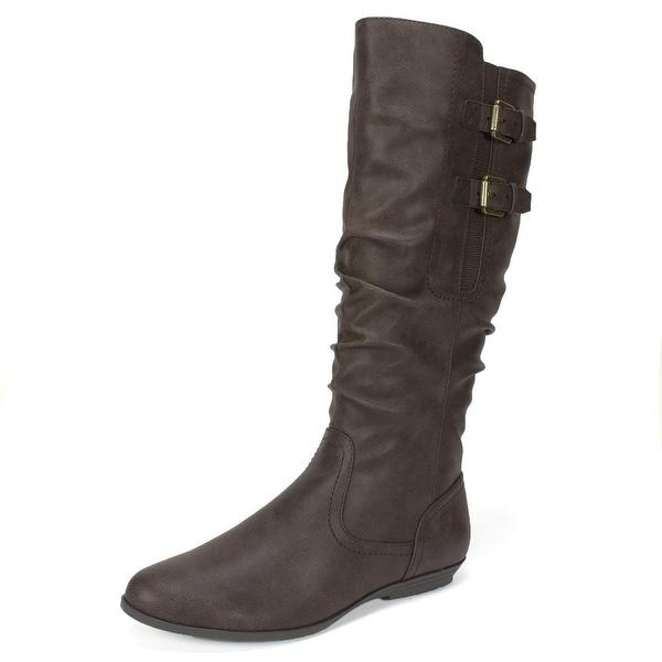 Cliffs by White Mountain Womens Fernanda Almond Toe Mid-Calf Fashion Boots - 7