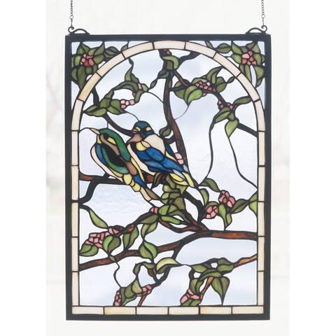 Meyda Tiffany 47966 Stained Glass Tiffany Window from the Garden