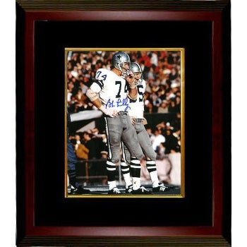 save off 21bbe 447c8 Bob Lilly signed Dallas Cowboys 8X10 Photo Custom Framed white jersey