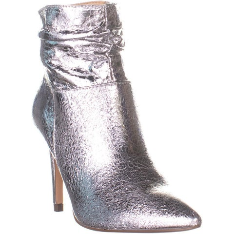 XOXO Taniah Pointed Toe Ankle Boots, Silver - 6 US
