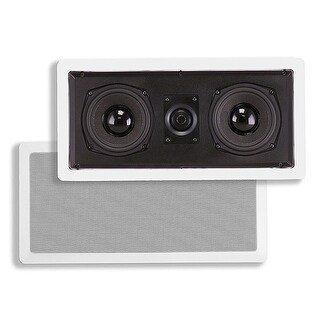 Monoprice5-1/4-inch 4-ohm Kevlar Center Channel In-Wall Speaker - 50W Nominal, 100W Max