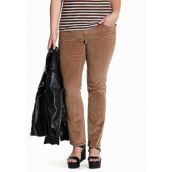 f97f120a59c Shop Jag Jeans Brown Women 16W Plus Straight Leg Corduroys Stretch ...