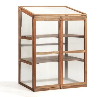 Link to Portable Wooden Garden Cold Frame Greenhouse - Natural Similar Items in Gardening