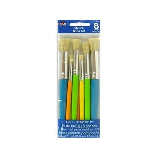 Plaid Stencil Brush Set 8pc