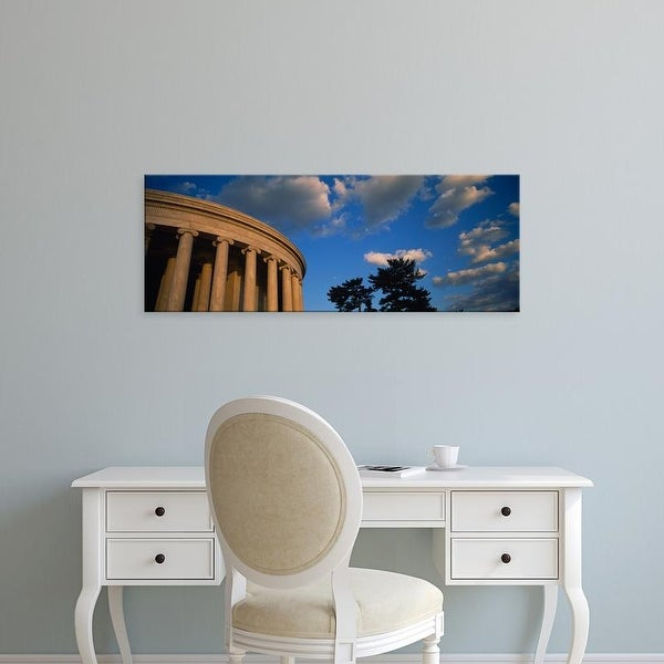 Easy Art Prints Panoramic Images's 'Clouds over a memorial, Jefferson Memorial, Washington DC, USA' Premium Canvas Art