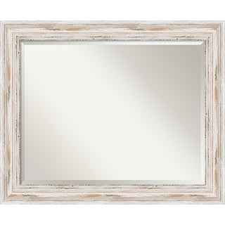 Link to The Gray Barn Wilset Large White Wash Wall Mirror, 33 x 27 - 27.12 x 33.12 x 1.971 inches deep Similar Items in Mirrors