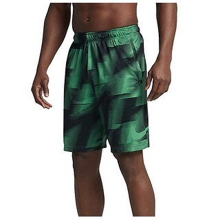 Nike NEW Green Mens Size Medium M Geo-Print Athletic Training Shorts