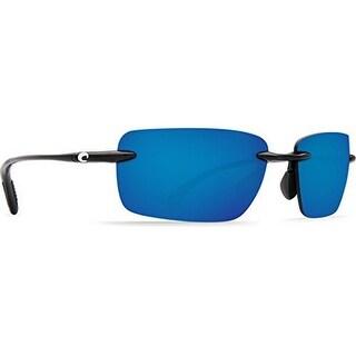 Costa Unisex Oyster Bay, Blue Mirror/Shiny Black Frame, OS
