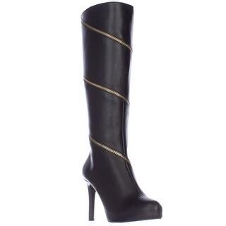 TS35 Valdiva Zipper Lined Knee-High Dress Boots - Black