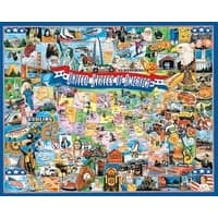 """United States Of America - Jigsaw Puzzle 1000 Pieces 24""""X30"""""""