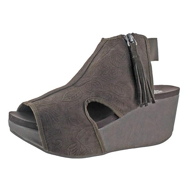 Yellow Box Sheridan Women's Platform Wedge Sandals, Taupe, Size 7.5
