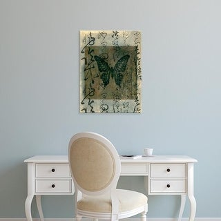 Easy Art Prints Elena Ray's 'Butterfly Calligraphy III' Premium Canvas Art