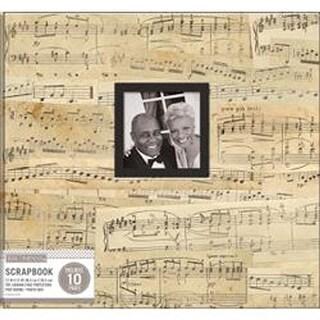 "Vintage Music - K&Company Patterned Post Bound Window Album 12""X12"""
