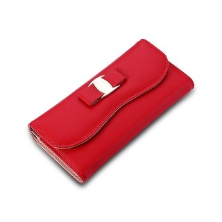 Faux Leather Curved Clutch