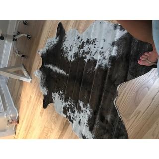 Carbon Loft van Leeuwenhoek Faux Cowhide Contemporary Area Rug