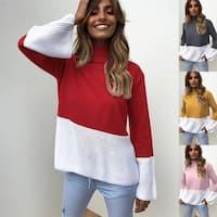 Women'S Turtleneck Sweater Loose Long Sleeve Sweater