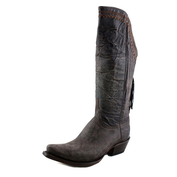 Lucchese TOBACCO TAL Women Pointed Toe Leather Western Boot