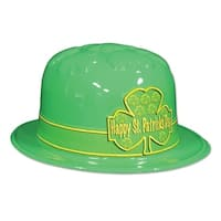 Club Pack of 25 St Patrick's Day Shamrock Derby Hats One Size Fits Most - Green