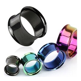 Titanium Anodized Over Surgical Steel Double Flared Tunnel (Sold Individually)