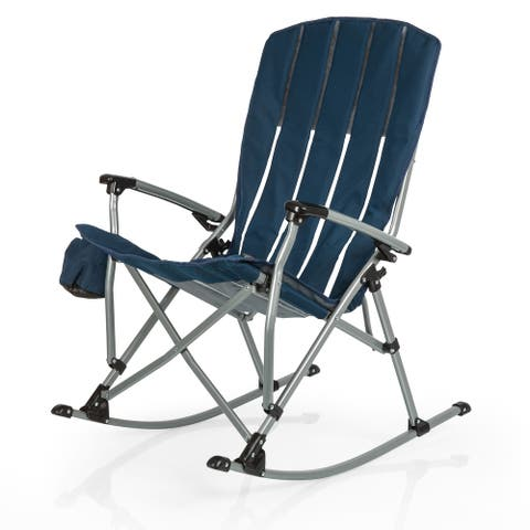 ONIVA Outdoor Rocking Camp Chair, (Navy Blue) - 28 x 35.8 x 40.5