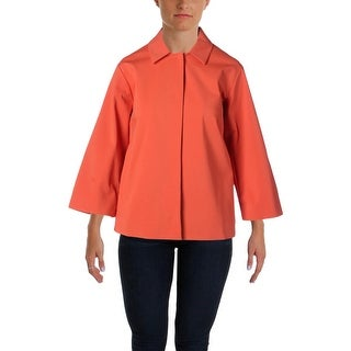 Lafayette 148 Womens Collar Snap Closure Jacket