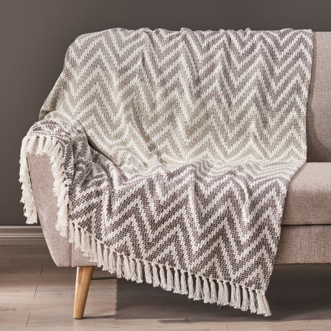 Thompkins Boho Fabric Throw Blanket by Christopher Knight Home