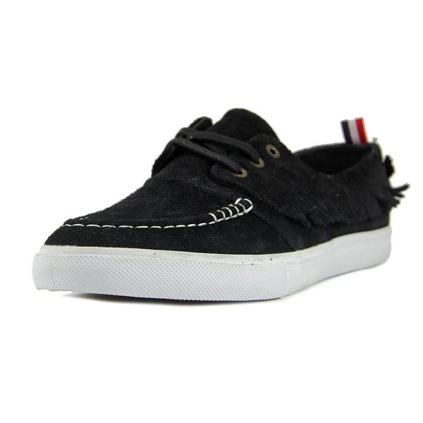 Diamond Supply Co Yacht Club Men Moc Toe Suede Black Boat Shoe