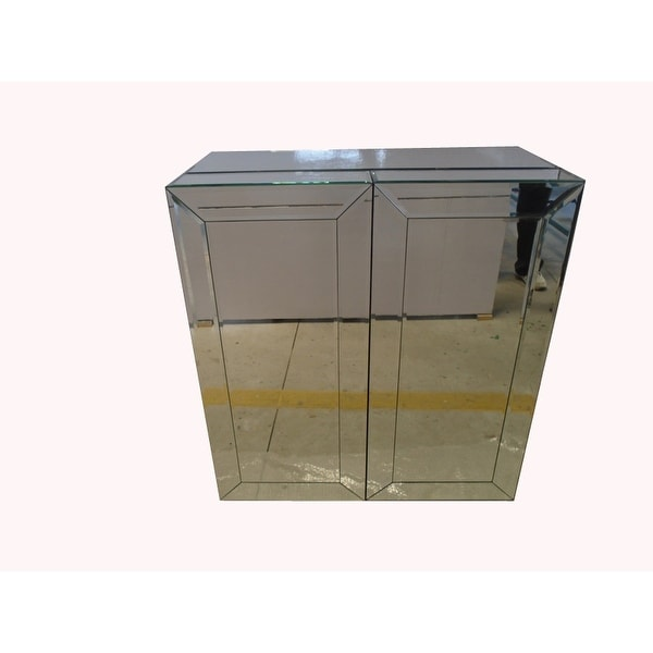 Home Bar Furniture Product: Shop Mirrored Wine Bar Cabinet Home Bar Furniture