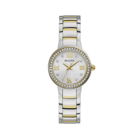 Bulova Women's 98L271 Crystal Accent Two-tone Stainless Bracelet Watch