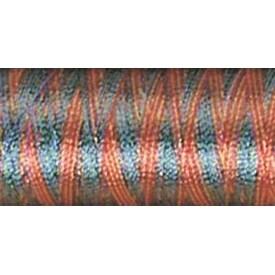 Variegated - Peach; Blue; Rust & Green - Sulky Rayon Thread 40Wt 250Yd