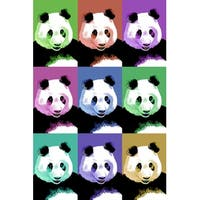 Panda Pop Art - Visit the Zoo - LP Artwork (100% Cotton Towel Absorbent)